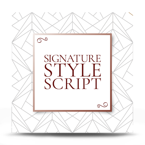 Signature Style Script For Her